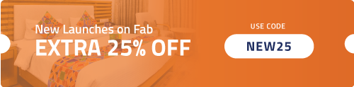 Get Flat 25% OFF on New Hotels