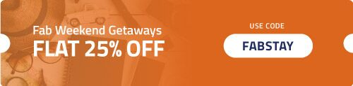 Get Flat 25% OFF on Weekend Getaways