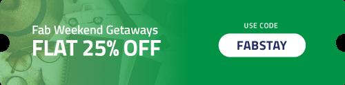 Get Flat 25% OFF on Weekend Getaways
